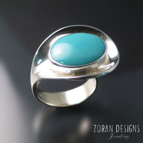 Turquoise Statement Ring Modern silver jewelry with Turquoise