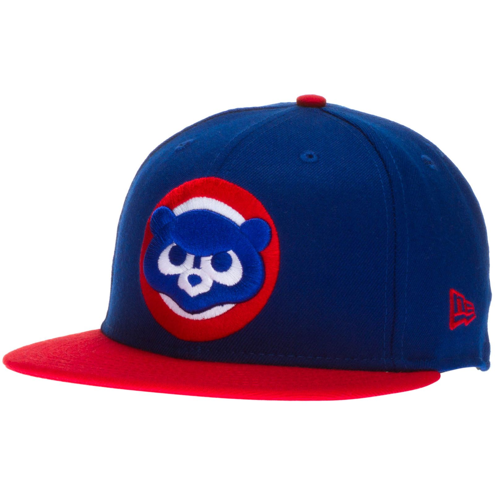 Chicago Cubs Royal and Red 1984 Logo Fitted Flat Bill Hat