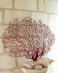 red coral sculpture