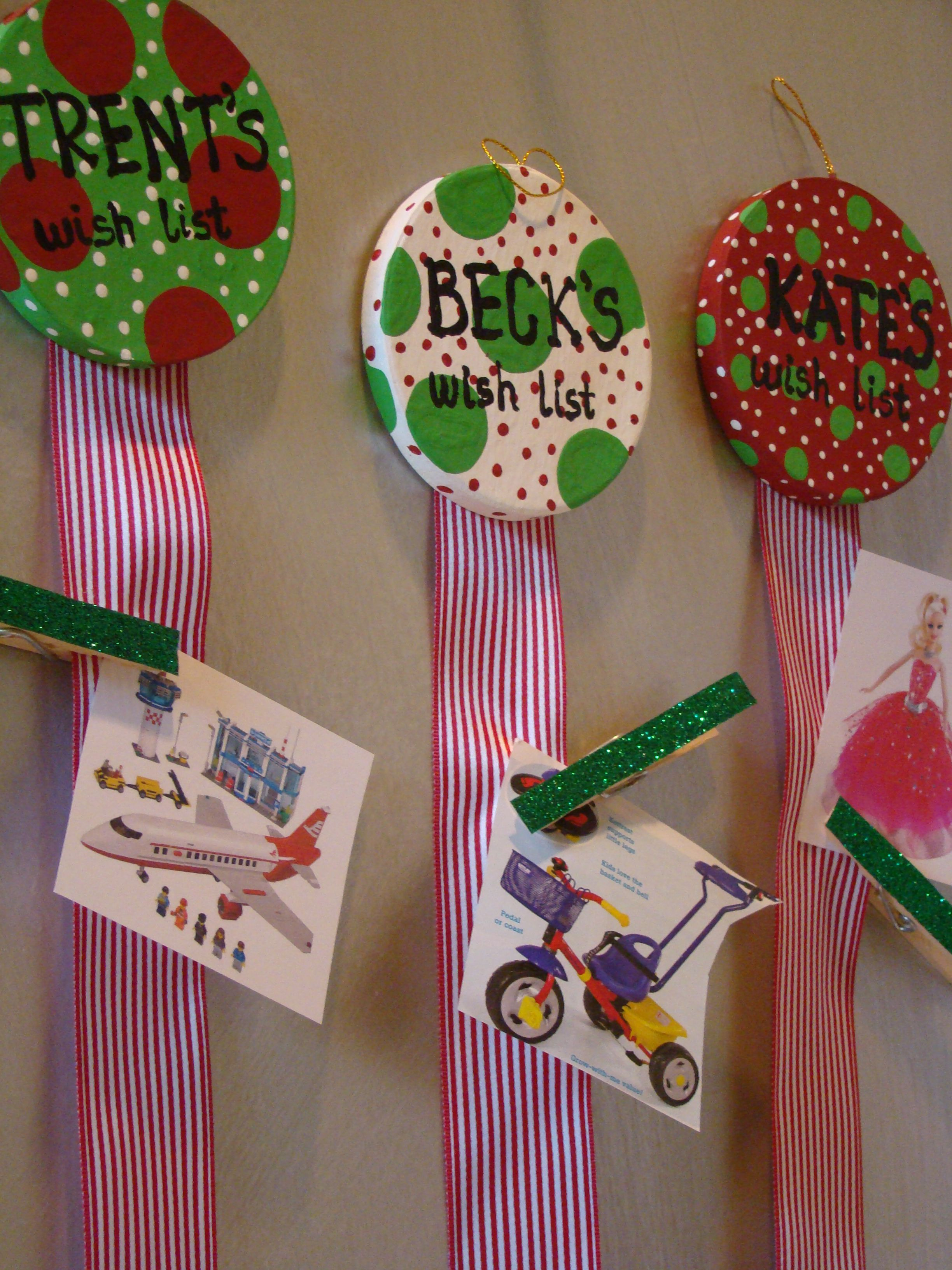 Christmas wish lists for the kids!