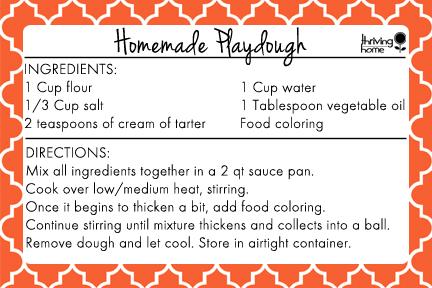Easy Homemade Playdough Recipe Free Printable Recipe Homemade Playdough Recipe Easy Homemade Playdough Recipe Homemade Playdough