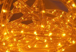 Amber Yellow 150 Ft 110v 120v 2 Wire 1 2 Led Rope Light Christmas Lighting Indoor Outdoor Rope Lighting Led Rope Lights Outdoor Rope Lights Rope Light