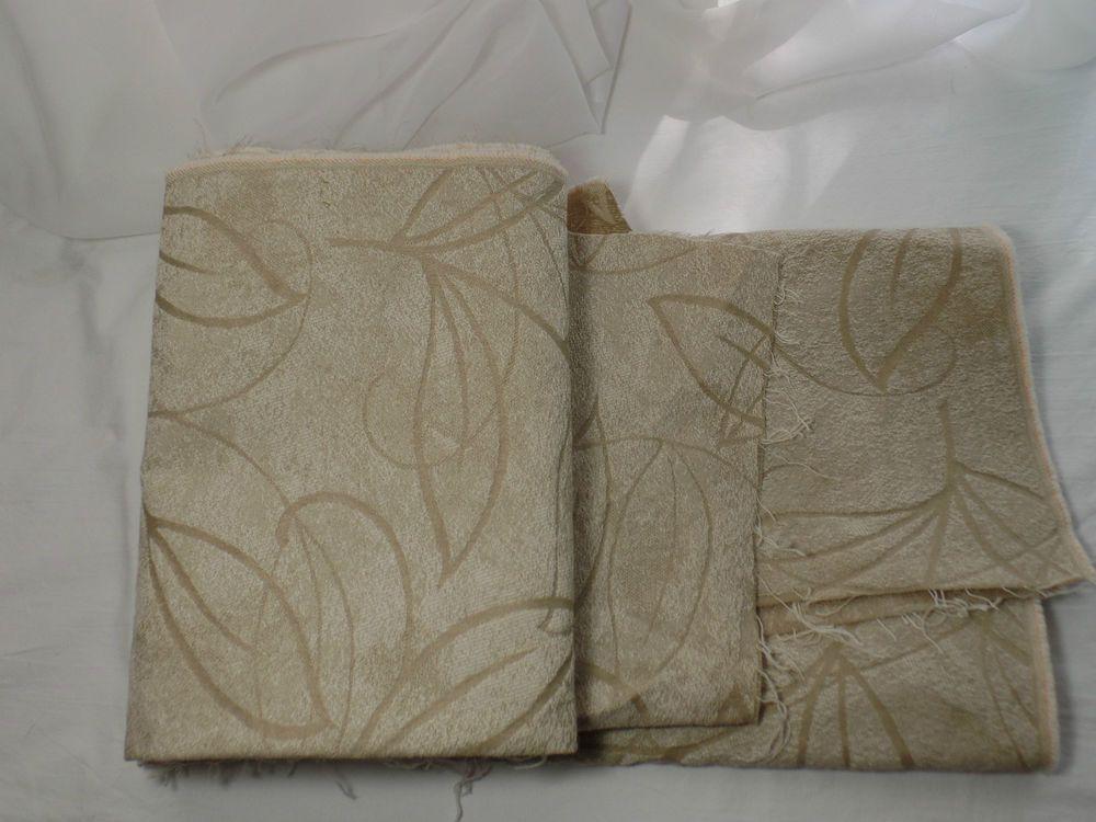 Vintage Fabric Panel Remnant CREAM0 Home Decor Upholstery Craft | eBay