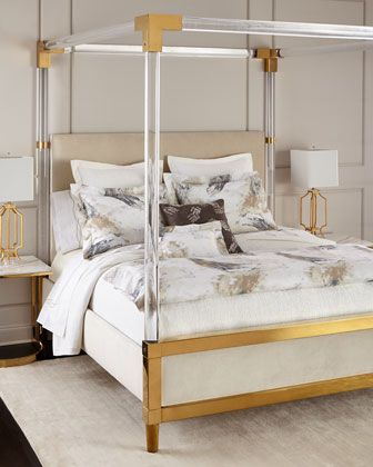 Bernhardt Hayworth Golden Acrylic King Bed With Images