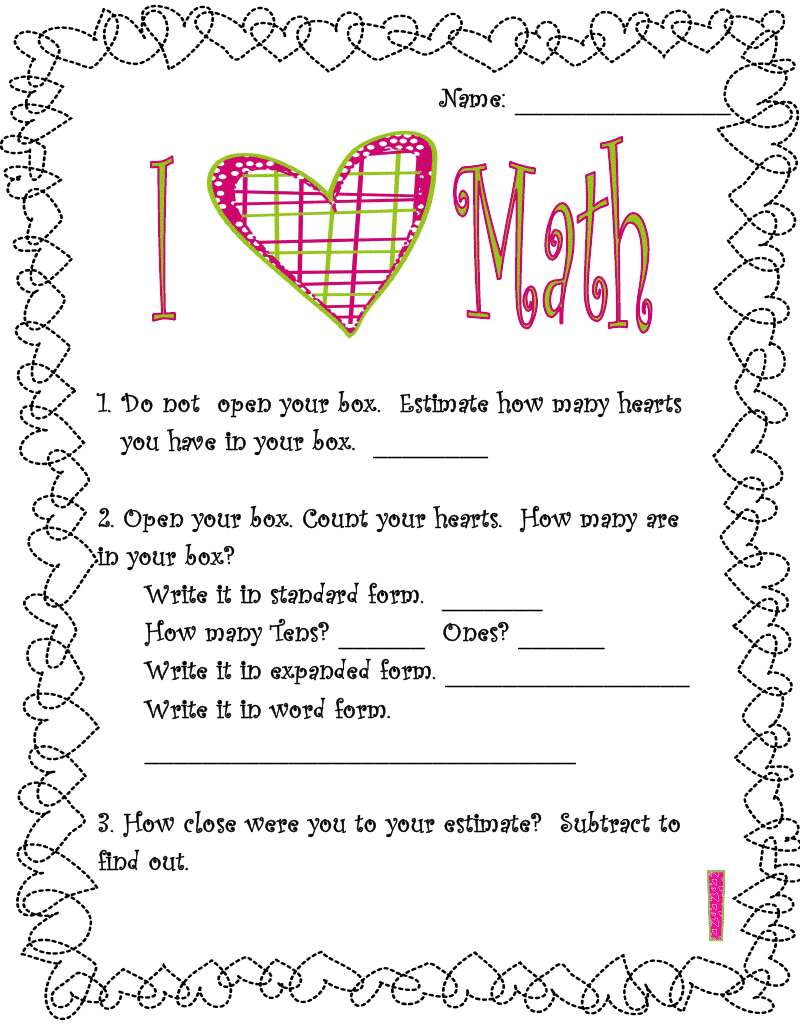 Free valentines day math adventures of a third grade teacher free valentines day math adventures of a third grade teacher valentines day freebies falaconquin