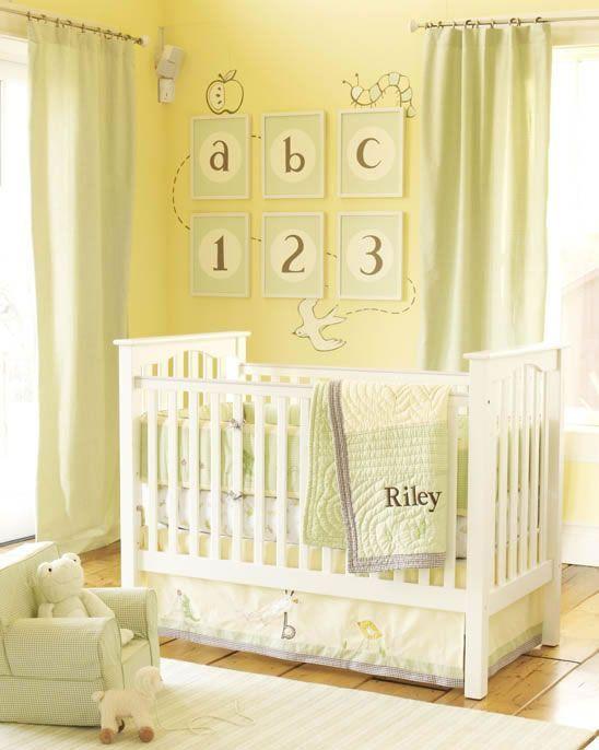 baby nursery yellow grey gender neutral. Adorable Gender Neutral Pastel Yellow Nursery! Nursery Decor Inspo   Baby On Board Grey