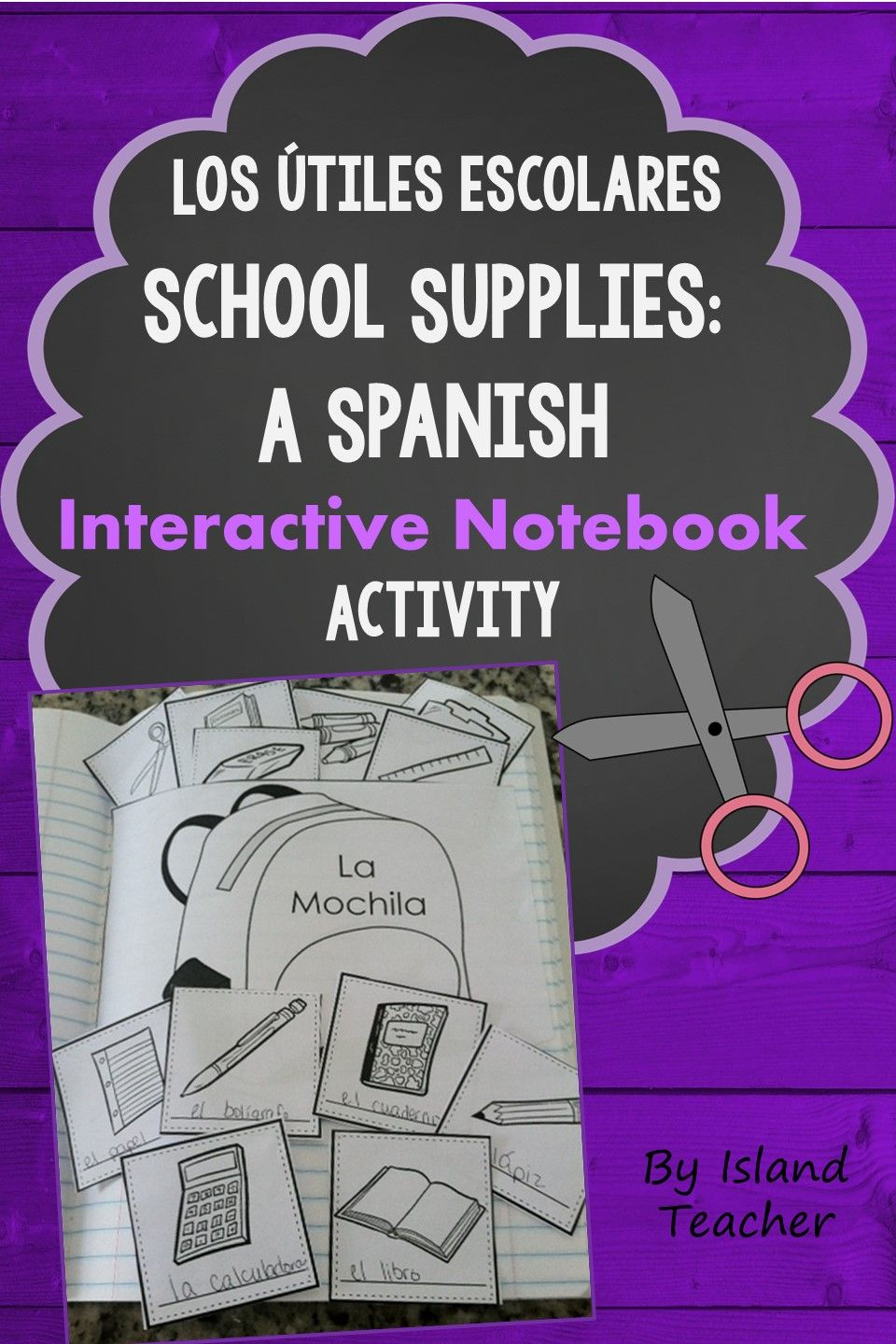 Students practice Spanish school supply vocabulary with this interactive notebook activity.