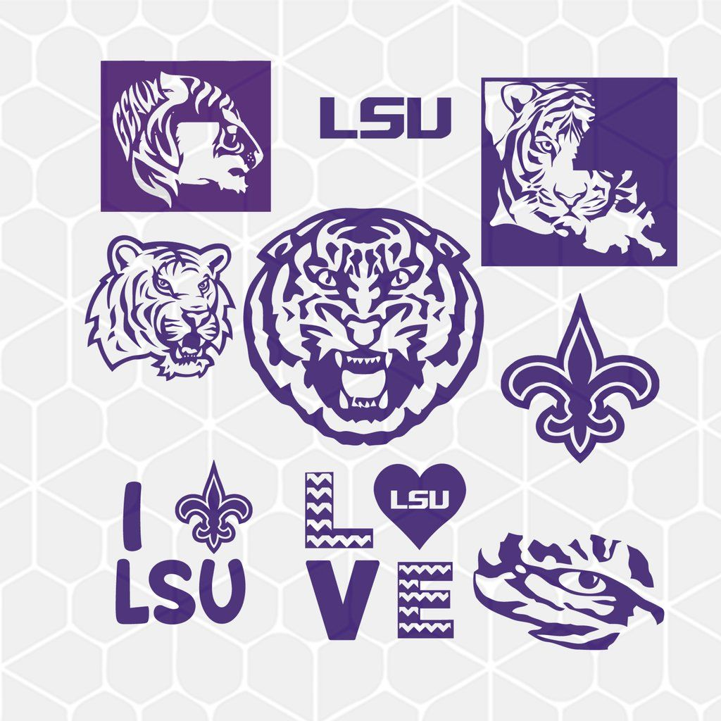 Lsu Tigers Bundle Svg Dxf Eps Png Instant Download Lsu Lsu Tigers Logo Lsu Tigers