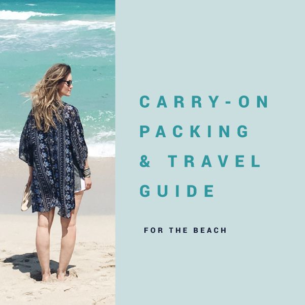 Carry-On Only Packing List + Travel Guide to South Beach for a Girls