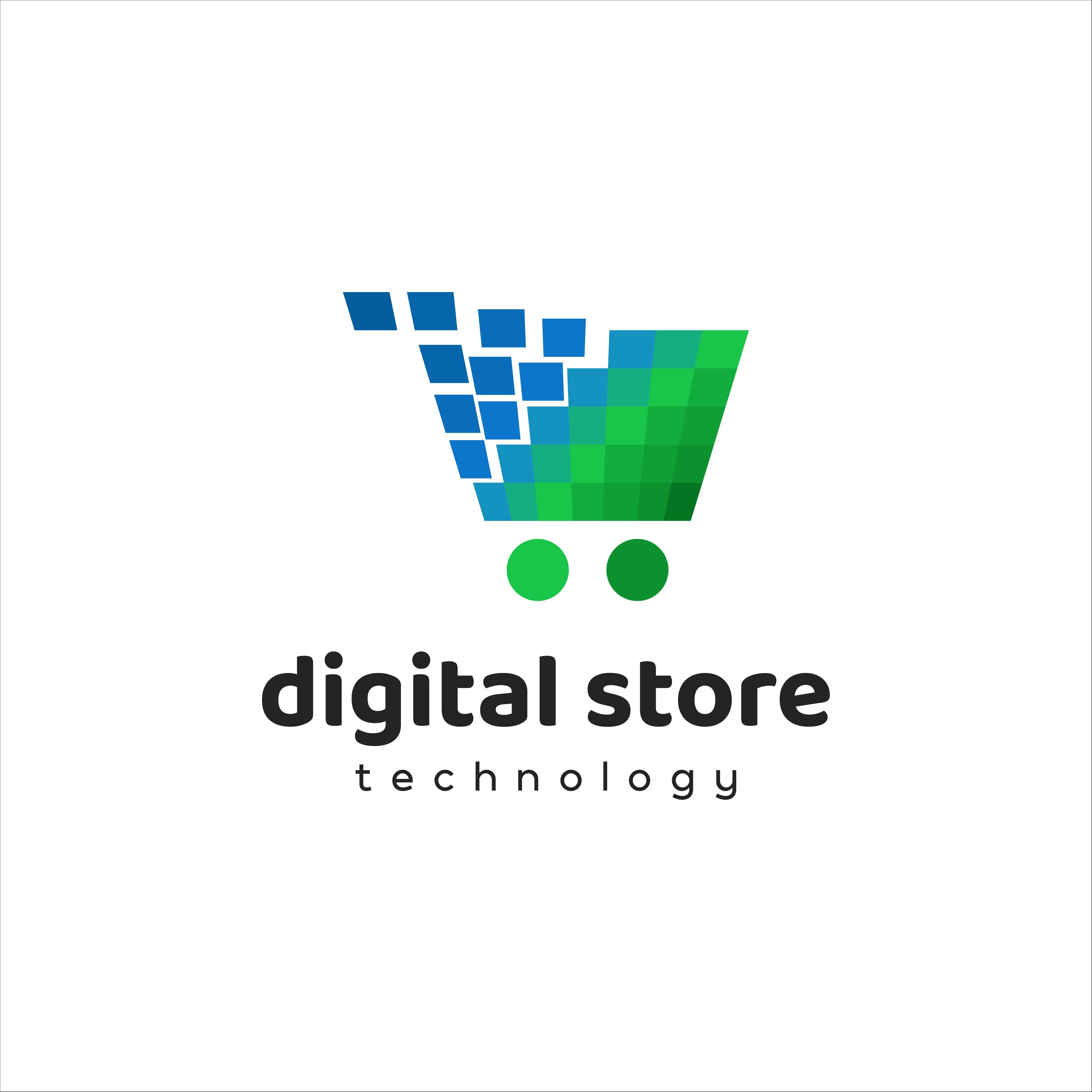 Digital Store Technology Logo In 2020 Logo Design Modern Logo Design Logos