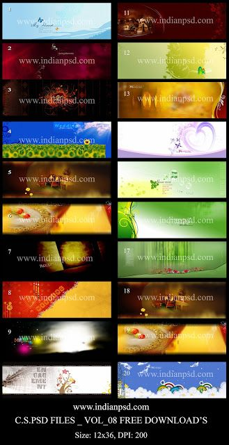 free psd files download 20 templates_vol_08 ~ a to z free psd files
