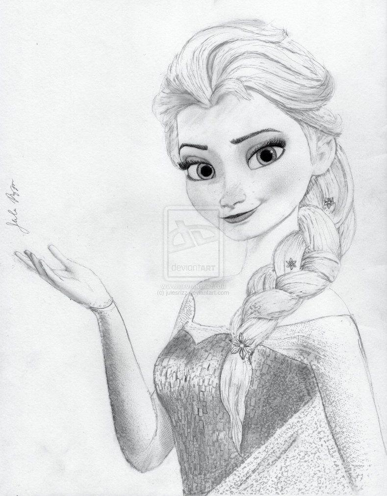 Elsa From Disney S Frozen By Julesrizz On Deviantart Disney Drawings Sketches Disney Princess Drawings Princess Drawings