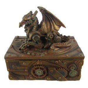 Steampunk Dragon Trinket Box