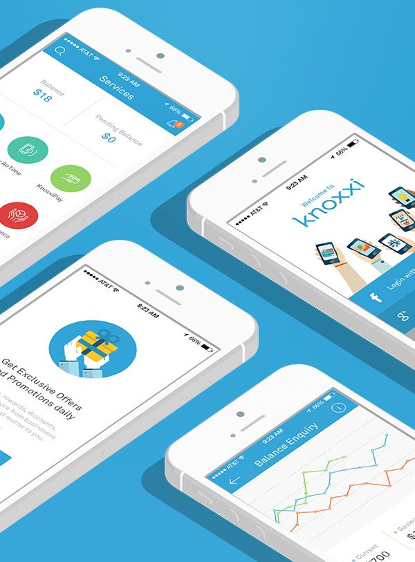 mobile app design inspiration knoxxi socially rewarding - App Design Ideas
