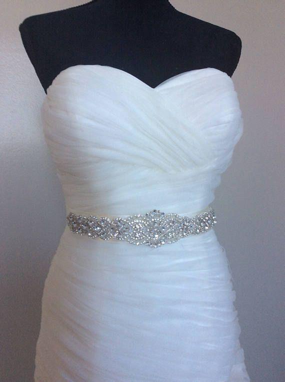 Wedding Sash Belt, Bridal Sash Belt - Crystal Sash Belt pearls and ...