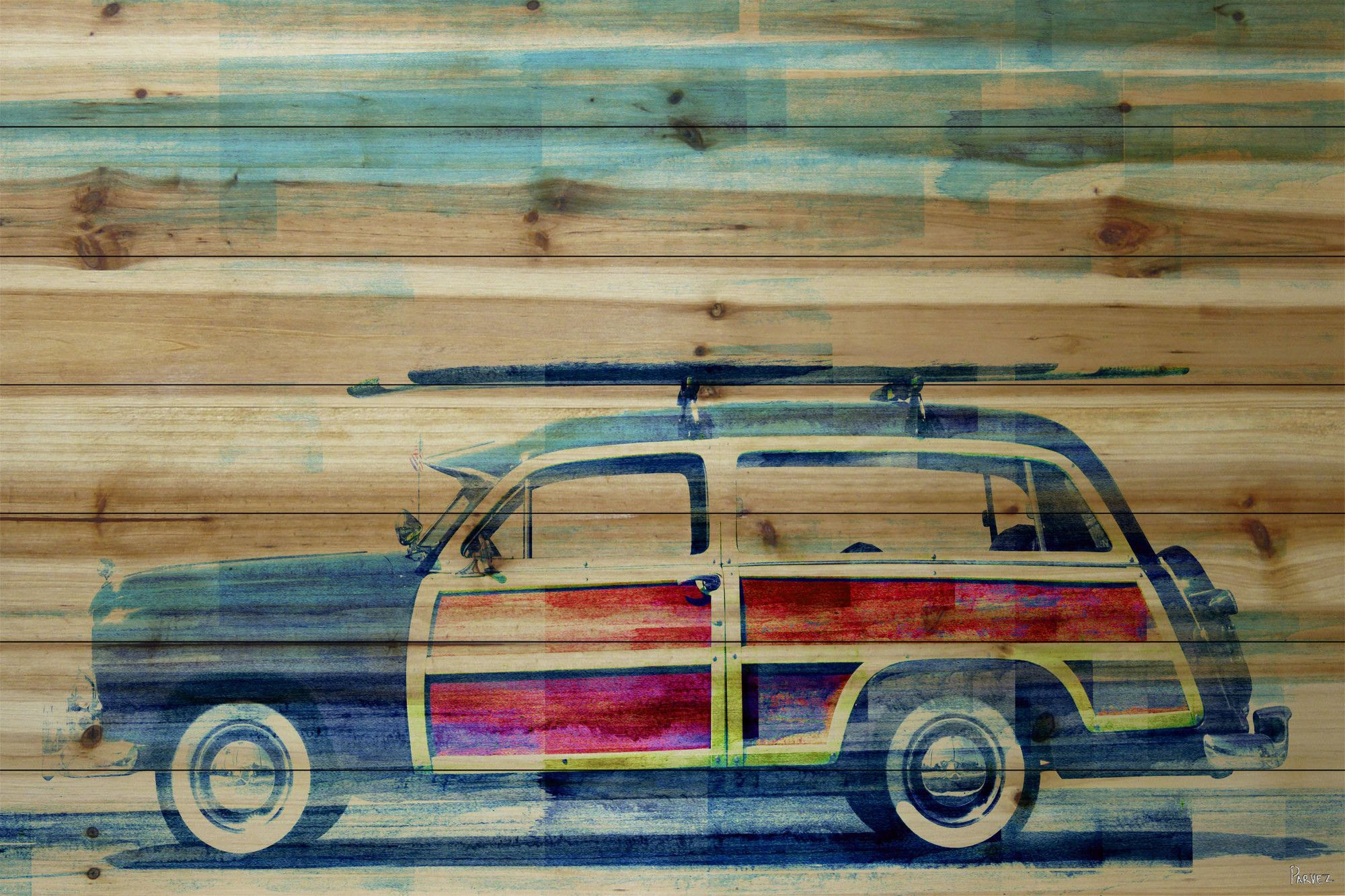 Surf day wall decor products pinterest surf painting prints