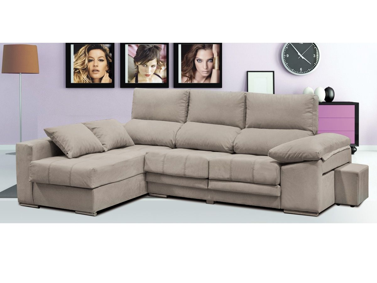 Sofa Reclinable Doble Sofa Chaise Longue Capitone, Sofa Chaiselongue Capitone