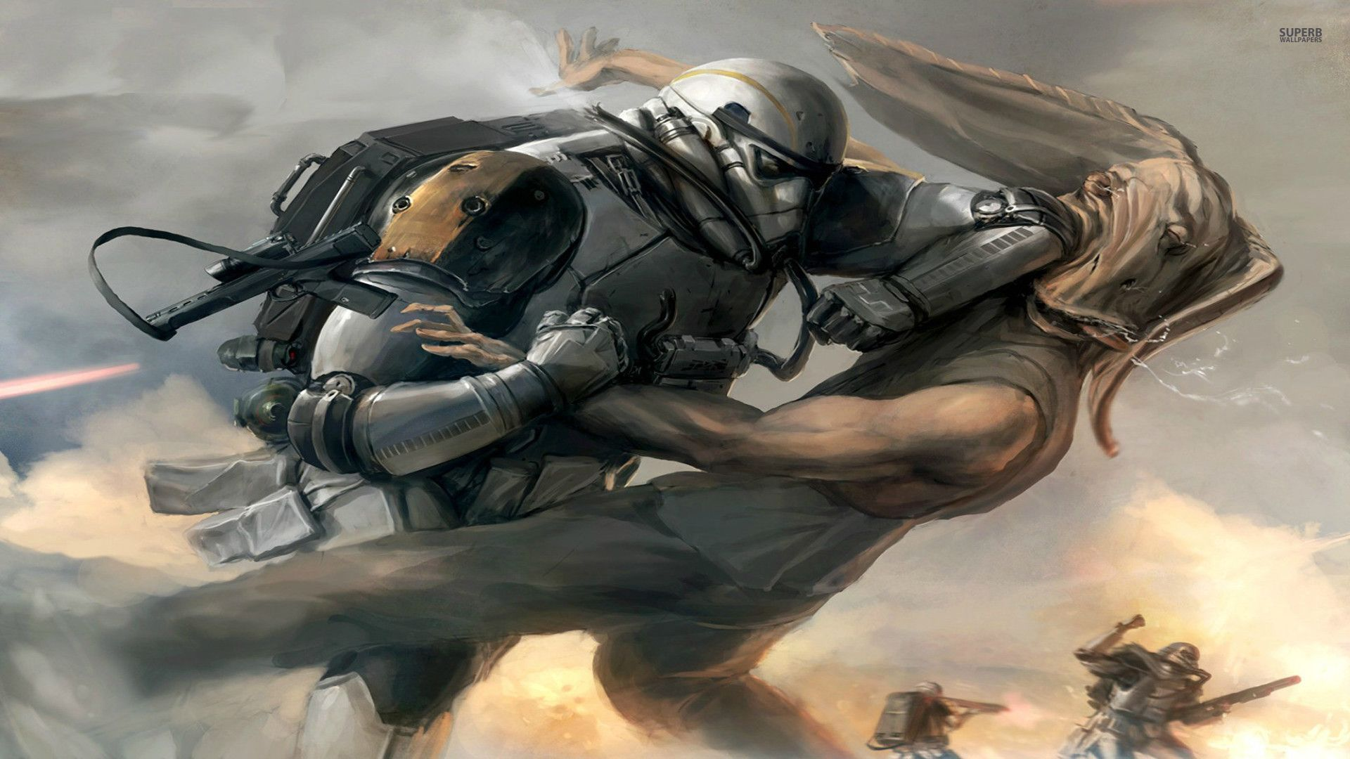 Epic Battle Wallpaper 1920 x 1080 Star Wars battle