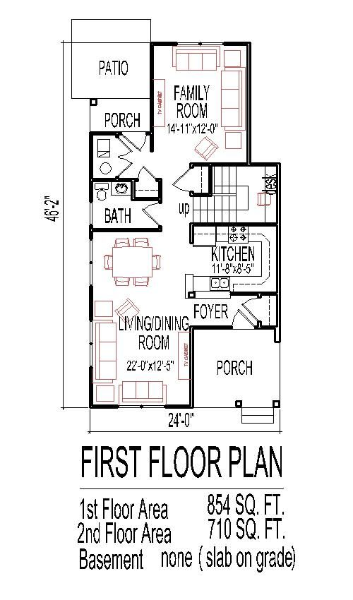 Low Budget House Floor Plans For Small Narrow Lots 3 Bedroom 2