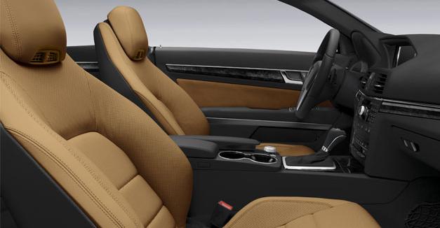 2012 mercedes benz e350 coupe interior color natural beige black leather black ash wood trim. Black Bedroom Furniture Sets. Home Design Ideas