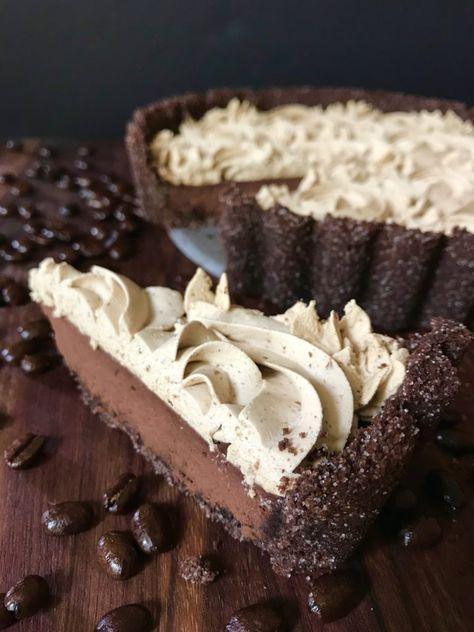Dark Chocolate Tart with Espresso Whipped Cream-Su