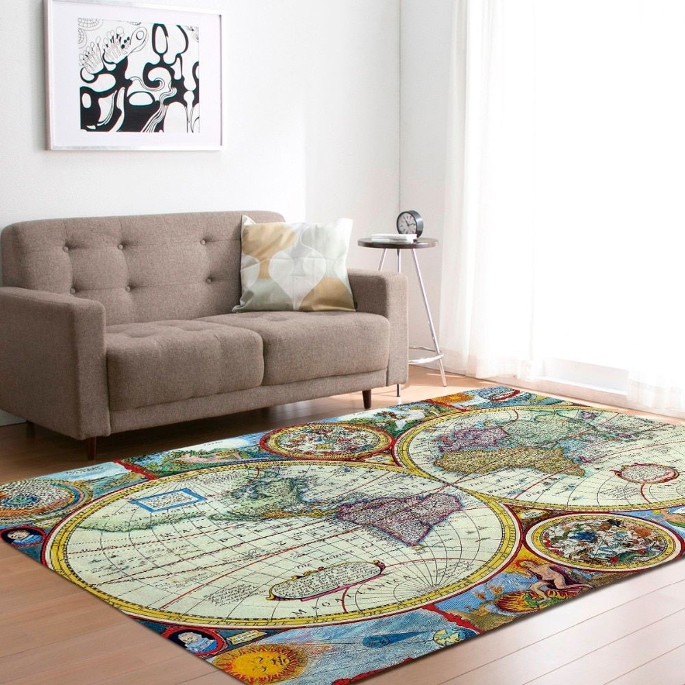 Large World Map Carpets Rug Bedroom Kids Baby Play Crawling Mat Memory Foam Area Rugs Carpet For Living Room Home Decorative Living Room Carpet Rugs In Living Room Room Carpet