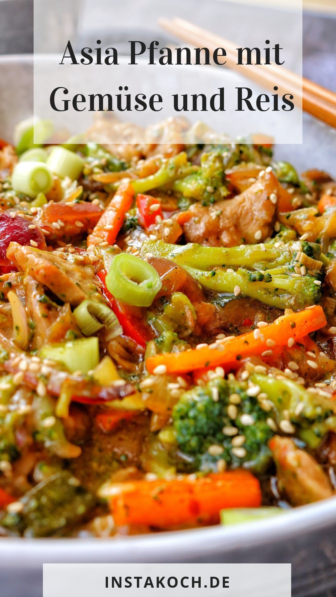 Asia Pfanne mit Gemüse und Reis  recipe grilled