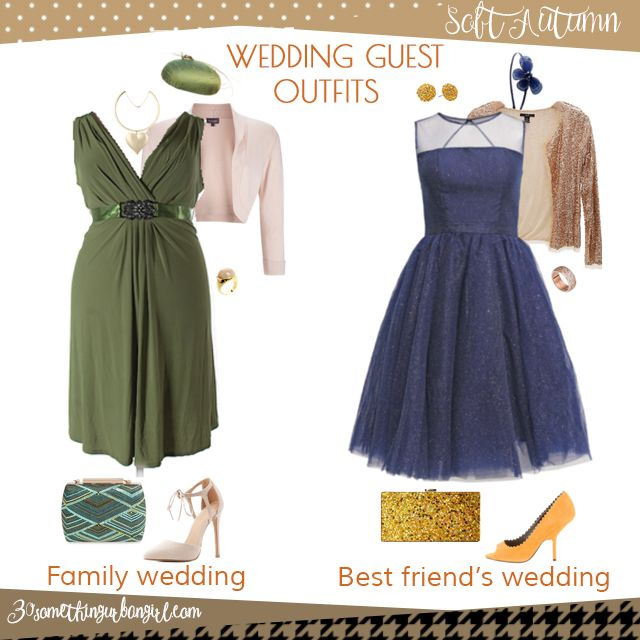 Wedding guest outfit ideas for Soft Autumn women by