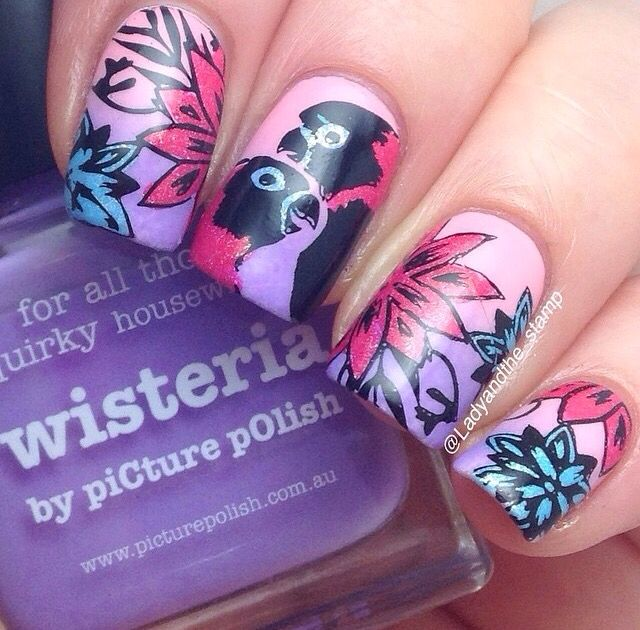 Tropical bird stamping by @ladyandthe_stamp