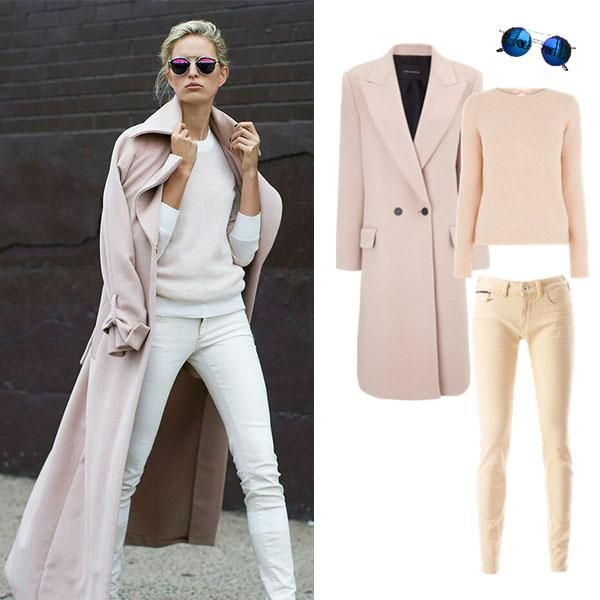 Pastels are in for fall 2014. We love this outfit. #ootd #fallstyle #streetstyle #outfitgrid
