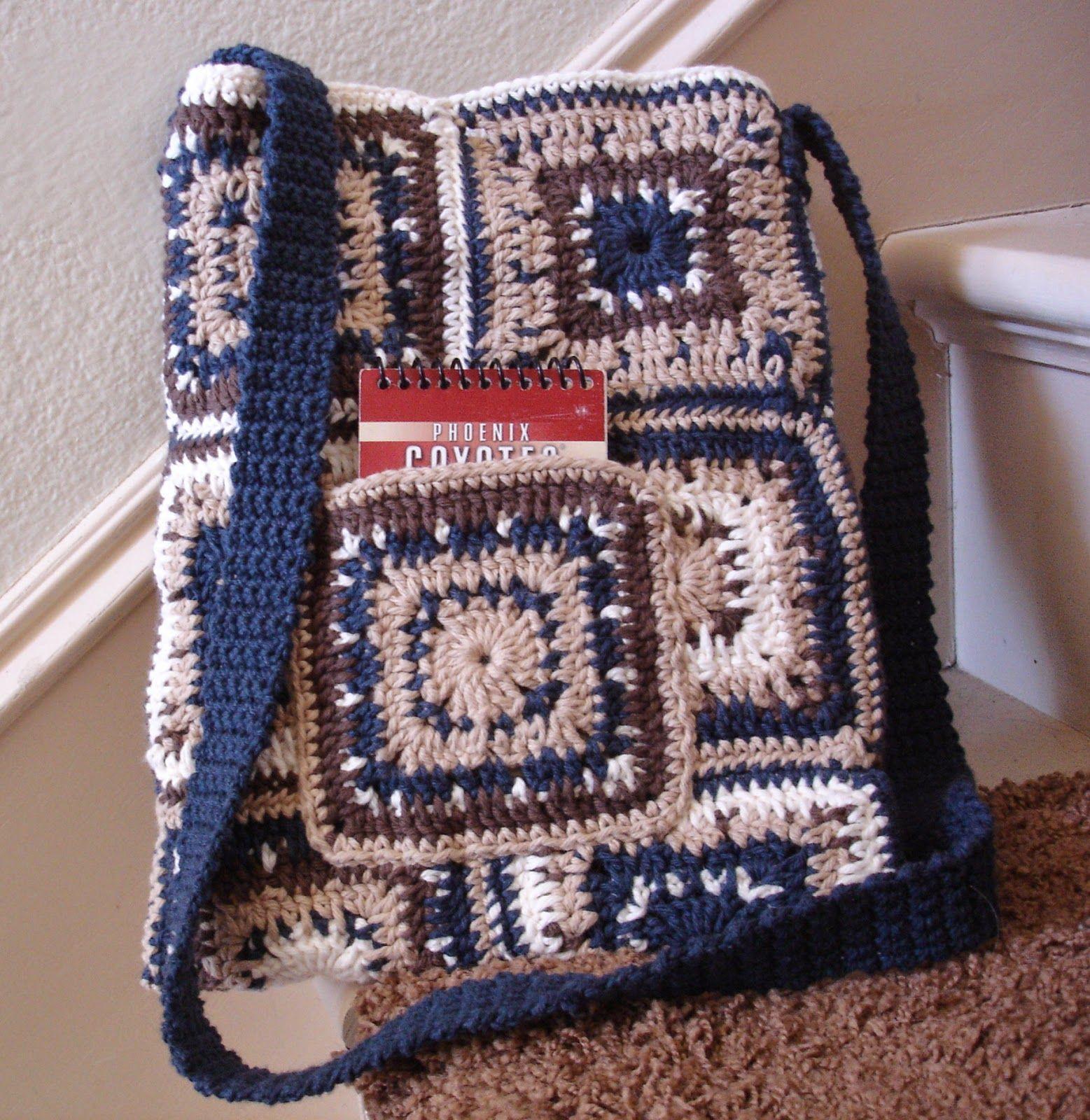 Sling bag crochet - Free Patterns By H Rorikstead Farmer S Sling Pattern