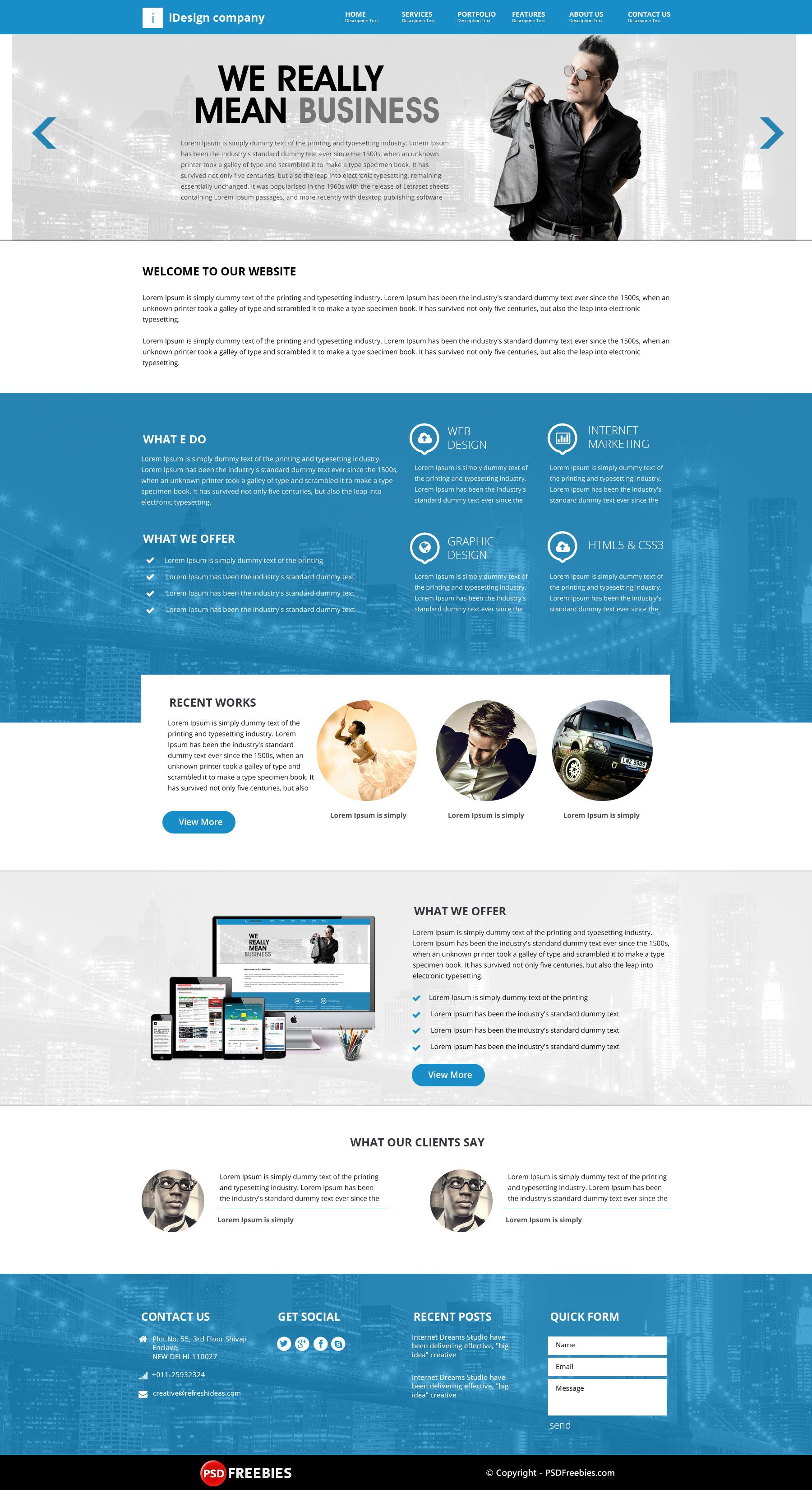 web design templates psd free download