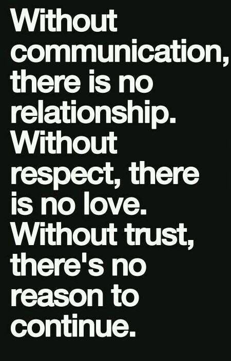 Trust Communicate And Respect