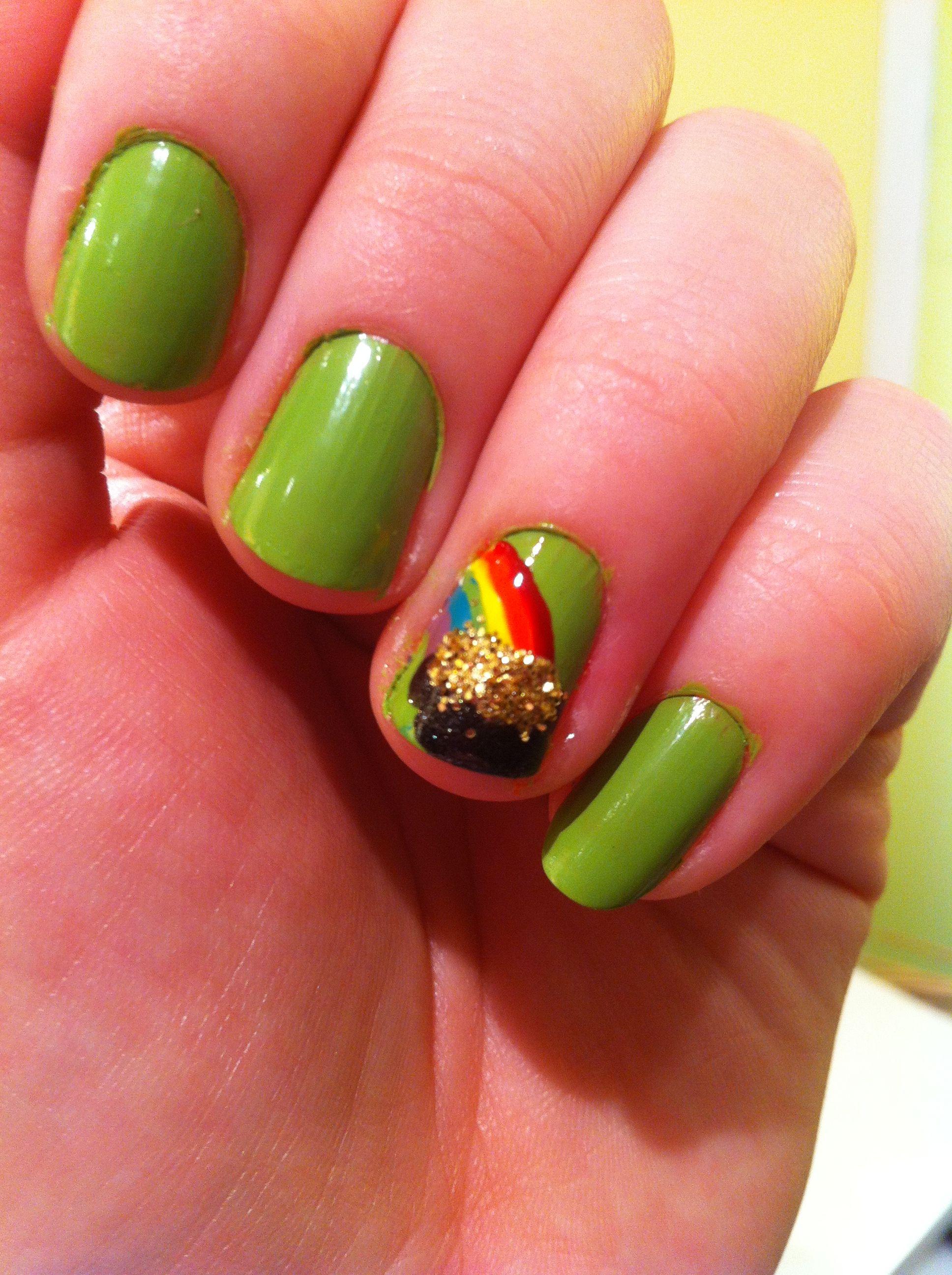My St. Patrick\'s Day 2013 nail design. By Vicky Van Roie | Nails ...