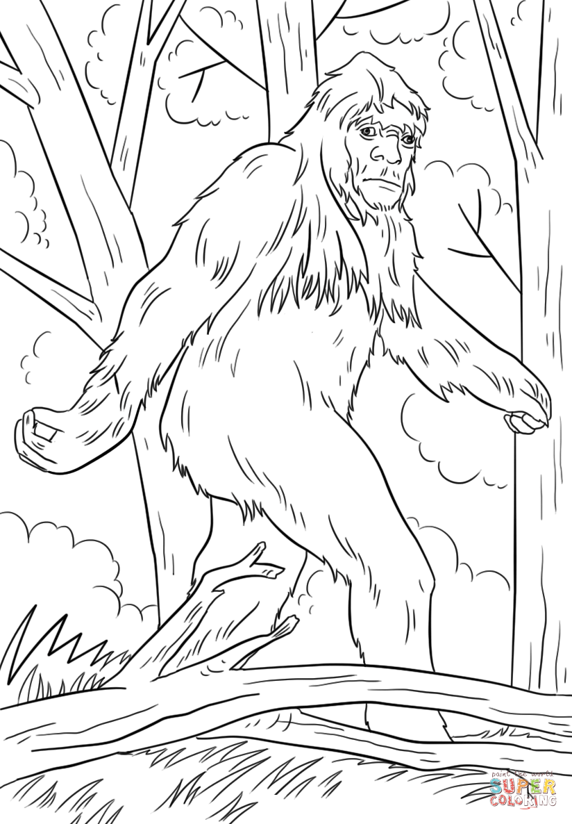 Sasquatch Coloring Page Free Printable Coloring Pages Coloring Pages Free Printable Coloring Pages Printable Coloring Pages
