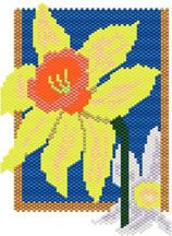 Daffodils Pattern at Sova-Enterprises.com Lots of Free Beading Patterns and tutorials are available!