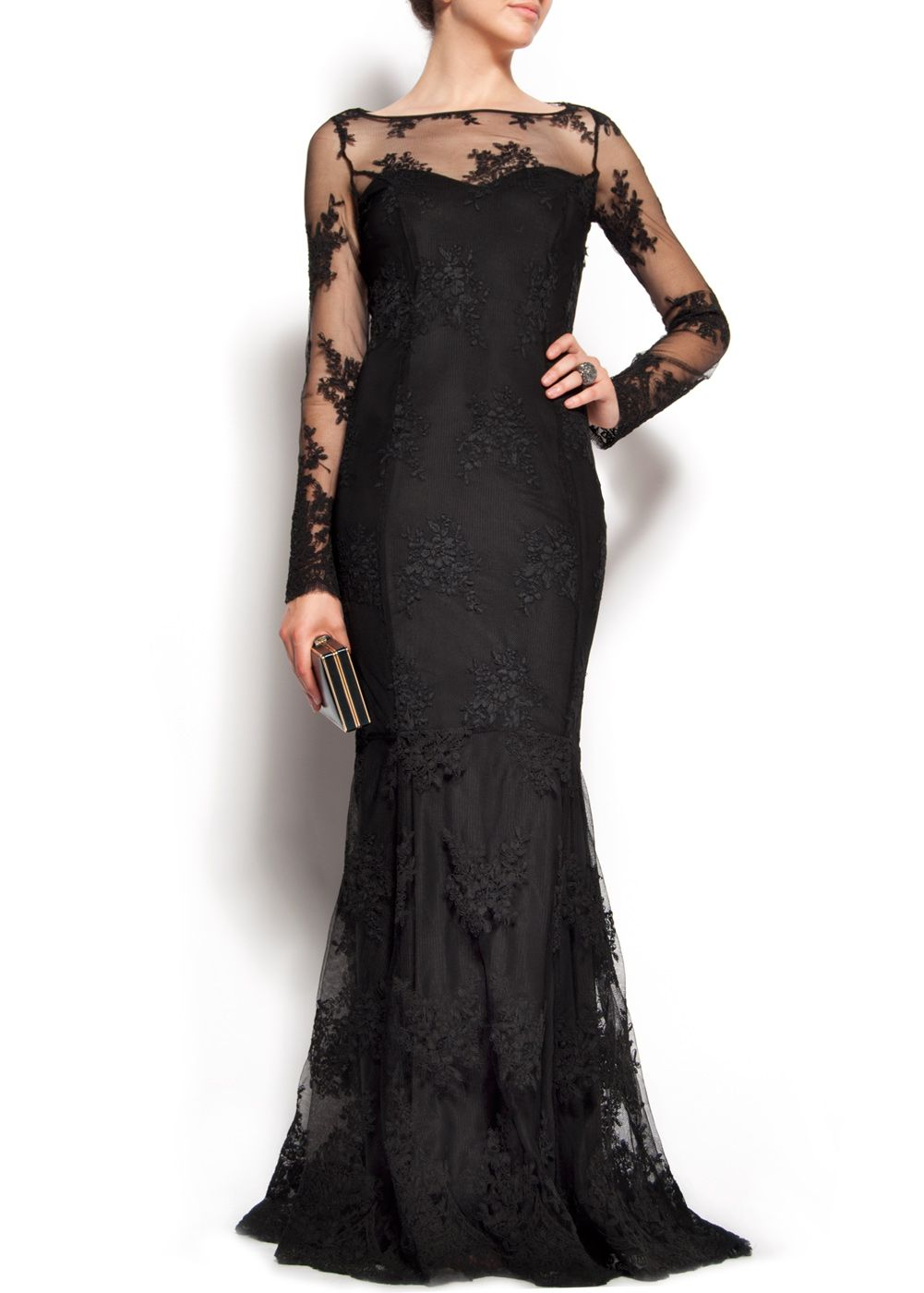 Mango black lace gown - a fresh take on the classic 1920s style of ...