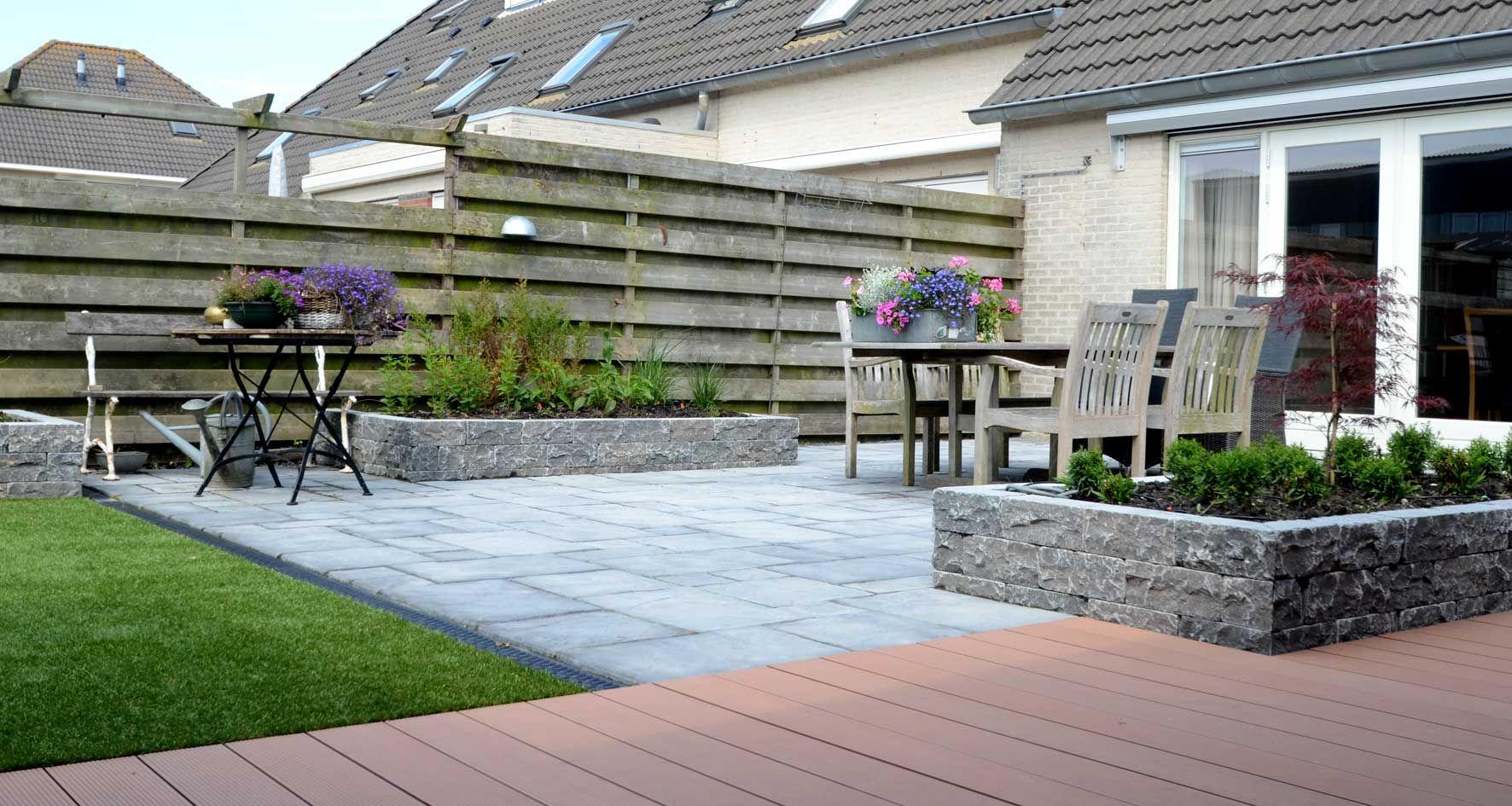 Drainage Tegels 50x50.Sierbestrating Berkhout Donker Wit Tuintechniek
