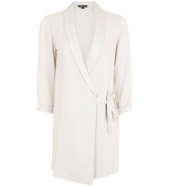 TopShop Petite Satin Blazer Dress ($125) ❤ liked on
