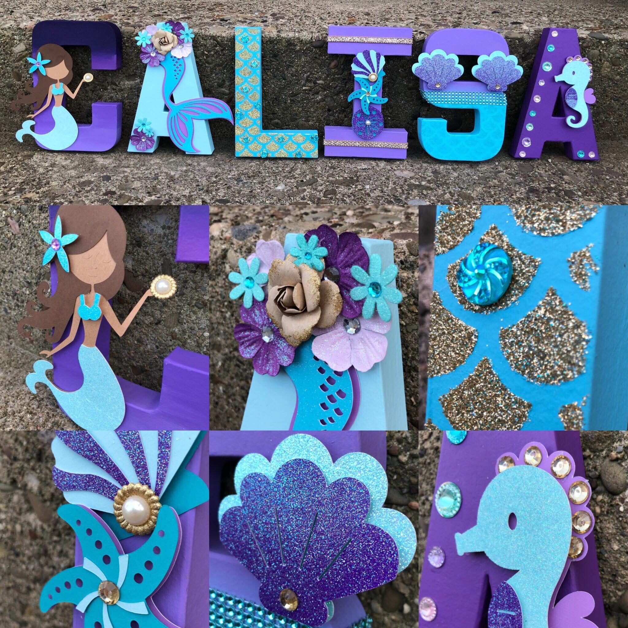 Mermaid Name Mermaid Letters Mermaid Decor Mermaid Party ...