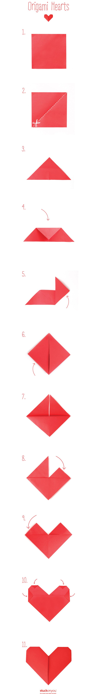 Make an origami heart - Kidspot   5614x710