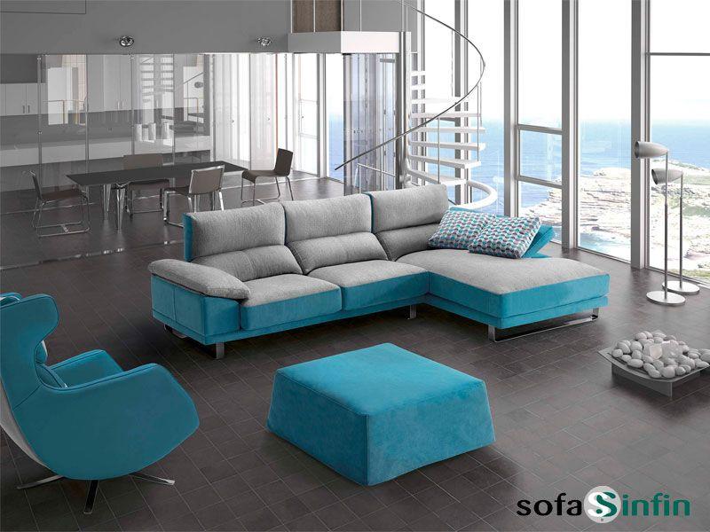 Sof con chaise longue house fabricado por divani star en for Recherche chaise longue