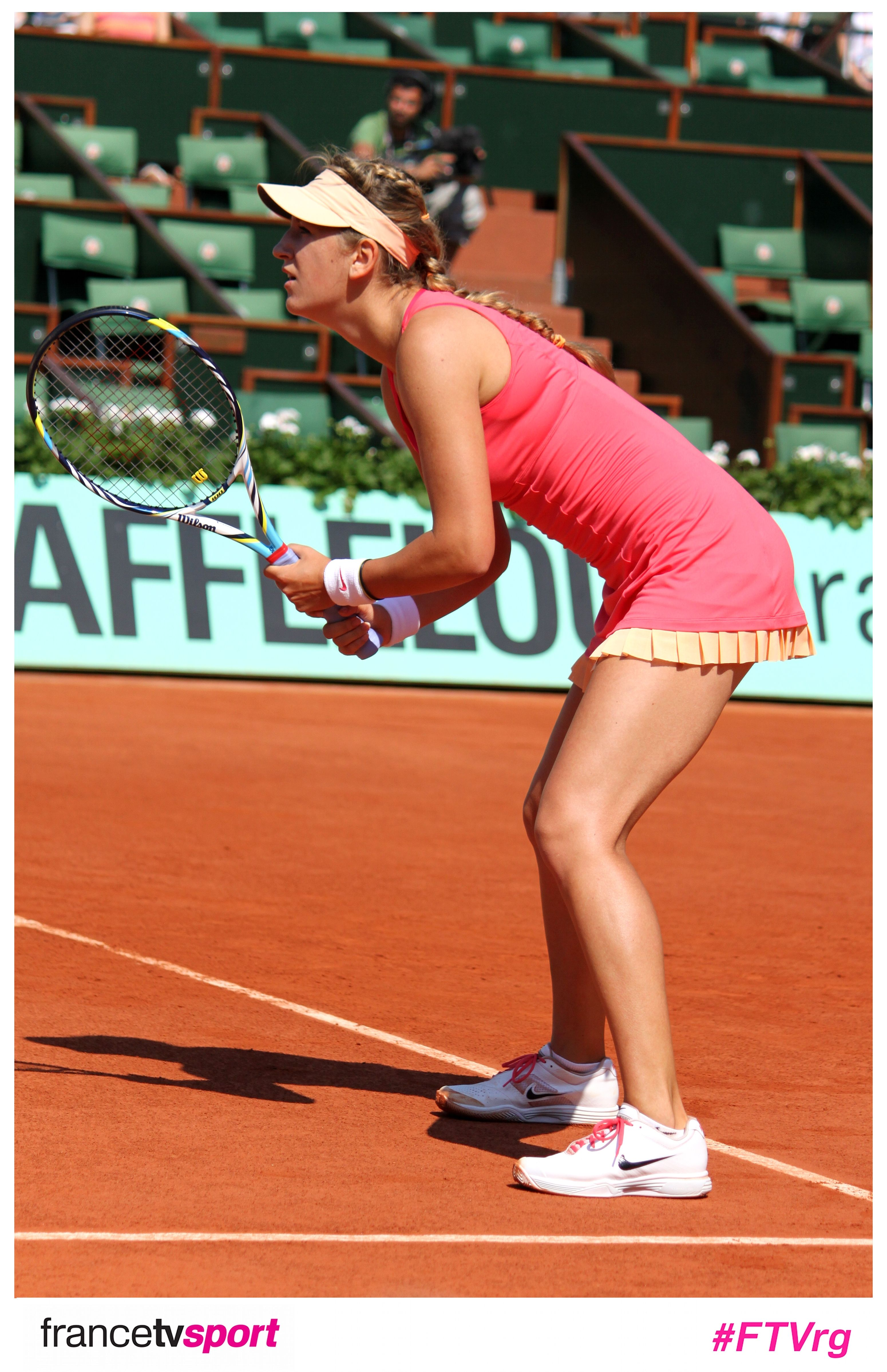 Azarenka concentrée lors de son premier tour accroché