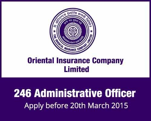Oriental Insurance Company Limited 246 Administrative Officer