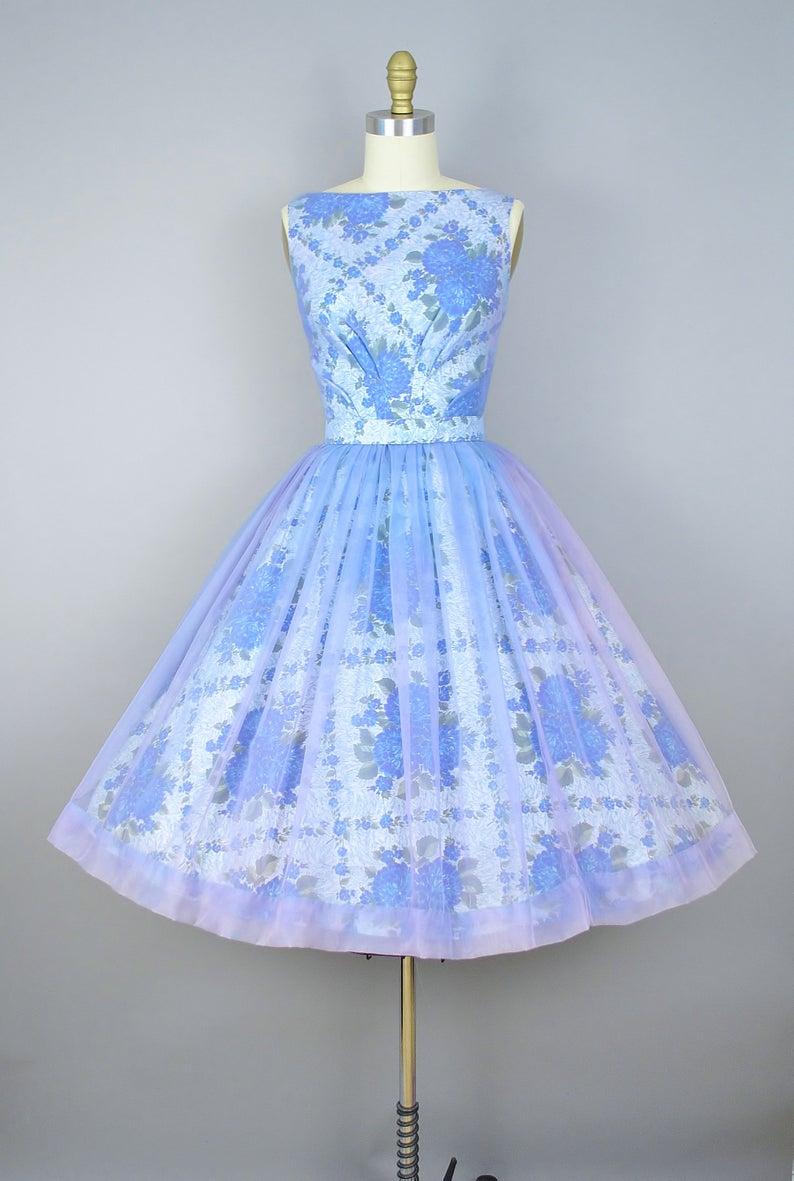 Vintage 50s Floral Print Party Dress 1950s Cotton Chiffon Etsy Vintage Dresses 50s Vintage Dresses Online Floral Print Party Dress [ 1181 x 794 Pixel ]
