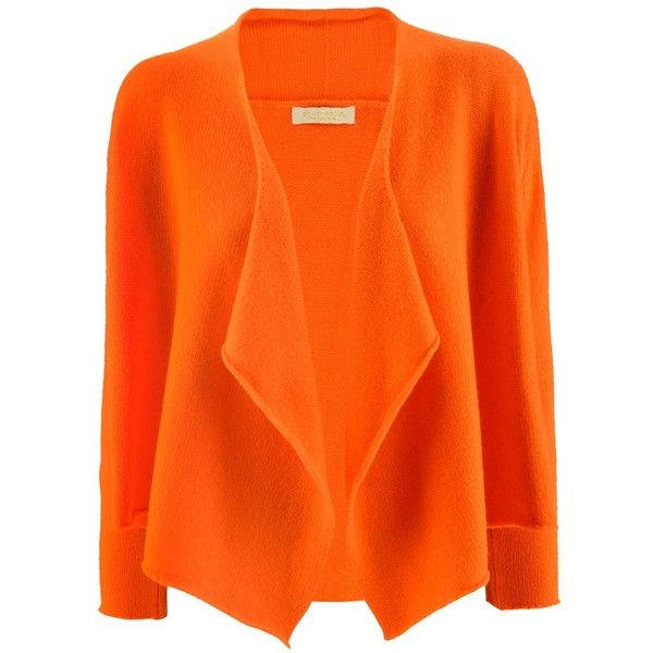 Philo-Sofie Orange Short Open Cardigan found on Polyvore ...
