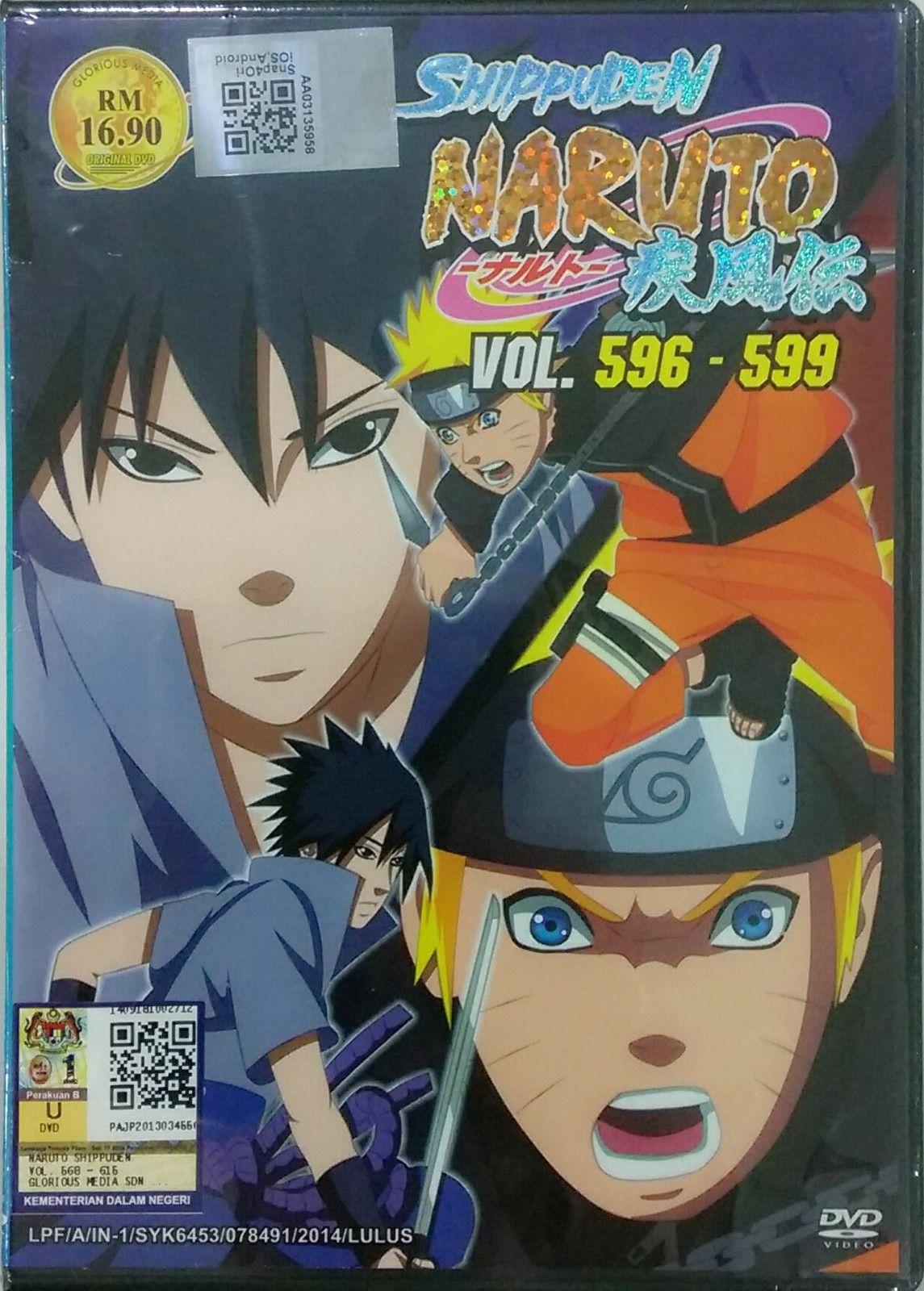 Dvd anime naruto shippuden vol596599 region all english