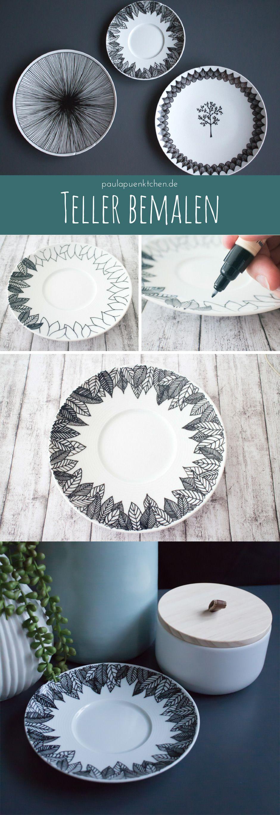 Porzellan bemalen mit einfachen Mustern – Paula Pünktchen