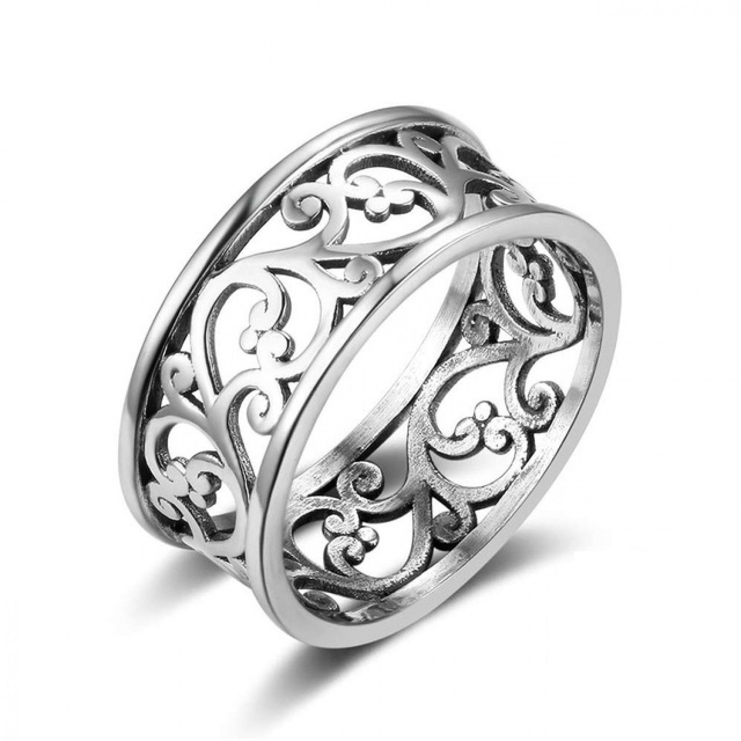 a64f4218698 Hot 925 Sterling Silver Rings for Women Vine Pattern Retro Vintage ...