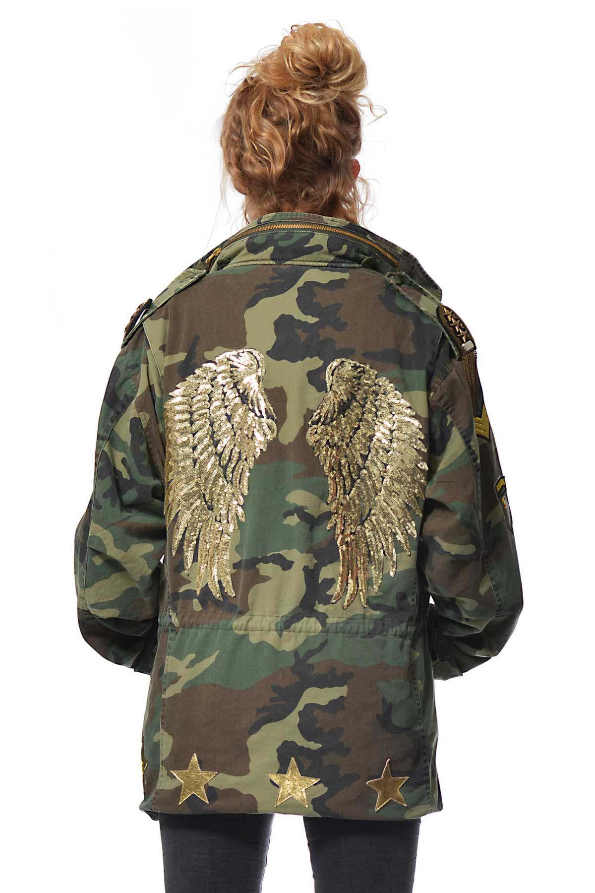 64292fa98980c Parka Angel Wings Military Clothing, Military Style, Military Jacket, Camo  Fashion, Military